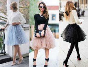 modne spódnice tiulowe