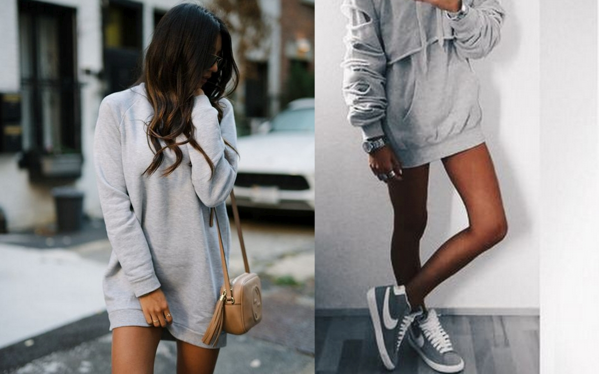 Szara sukienka dresowa – sposób na komfortową stylizację