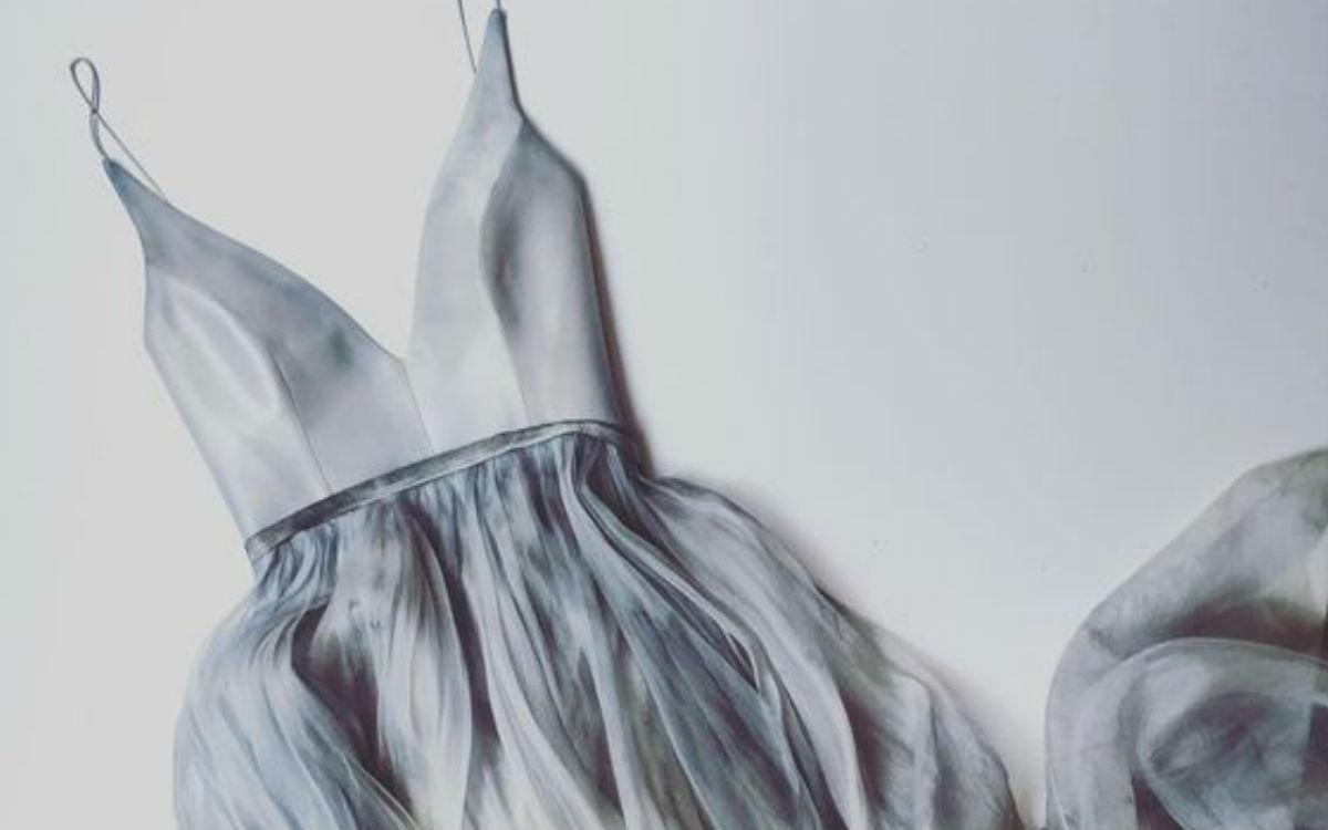 fot. autor nieznany, szara sukienka/ kolaż Modatu
