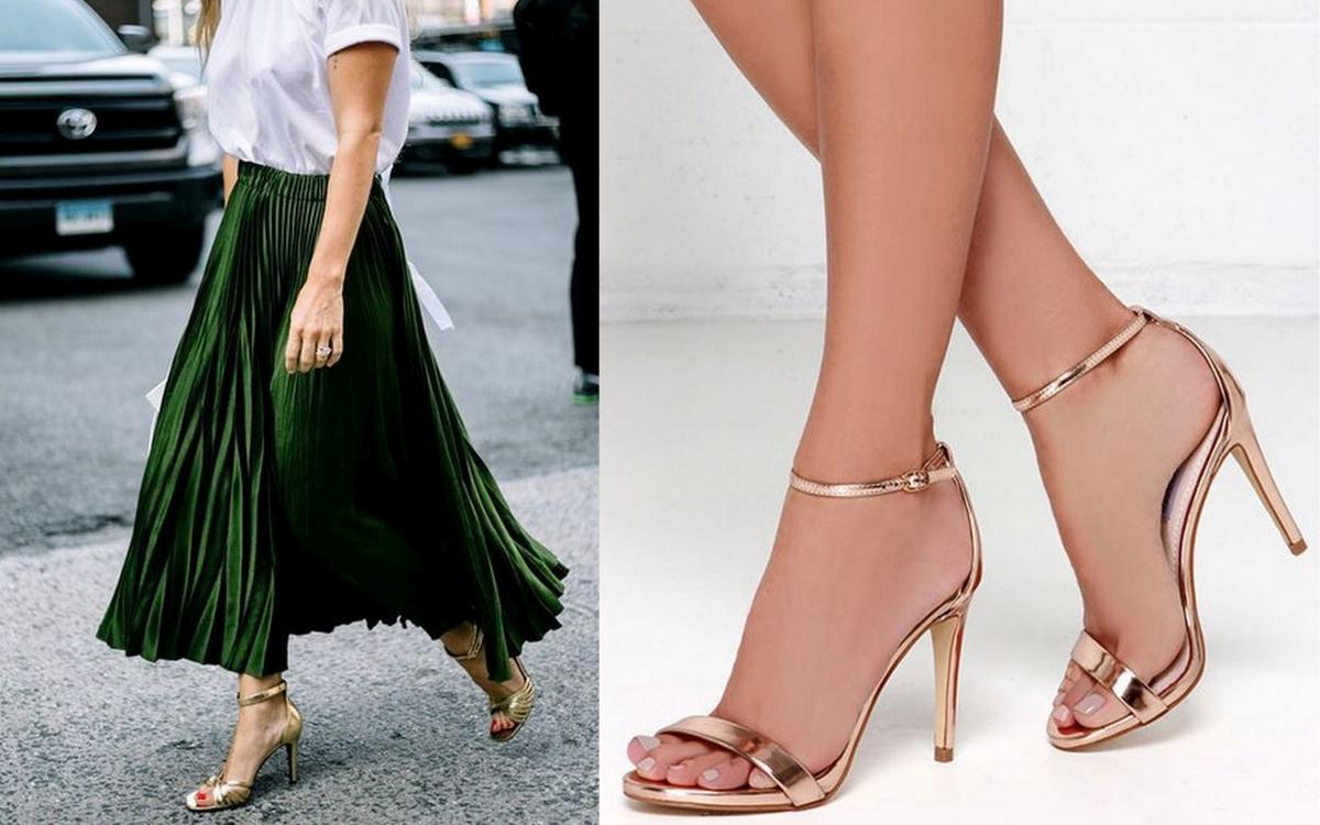 złote sandałki