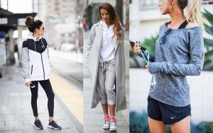 Stylizacje sportowe do 500 złotych (fot. pinterest.com: Hello Fashion, Just The Design, Elle Apparel)