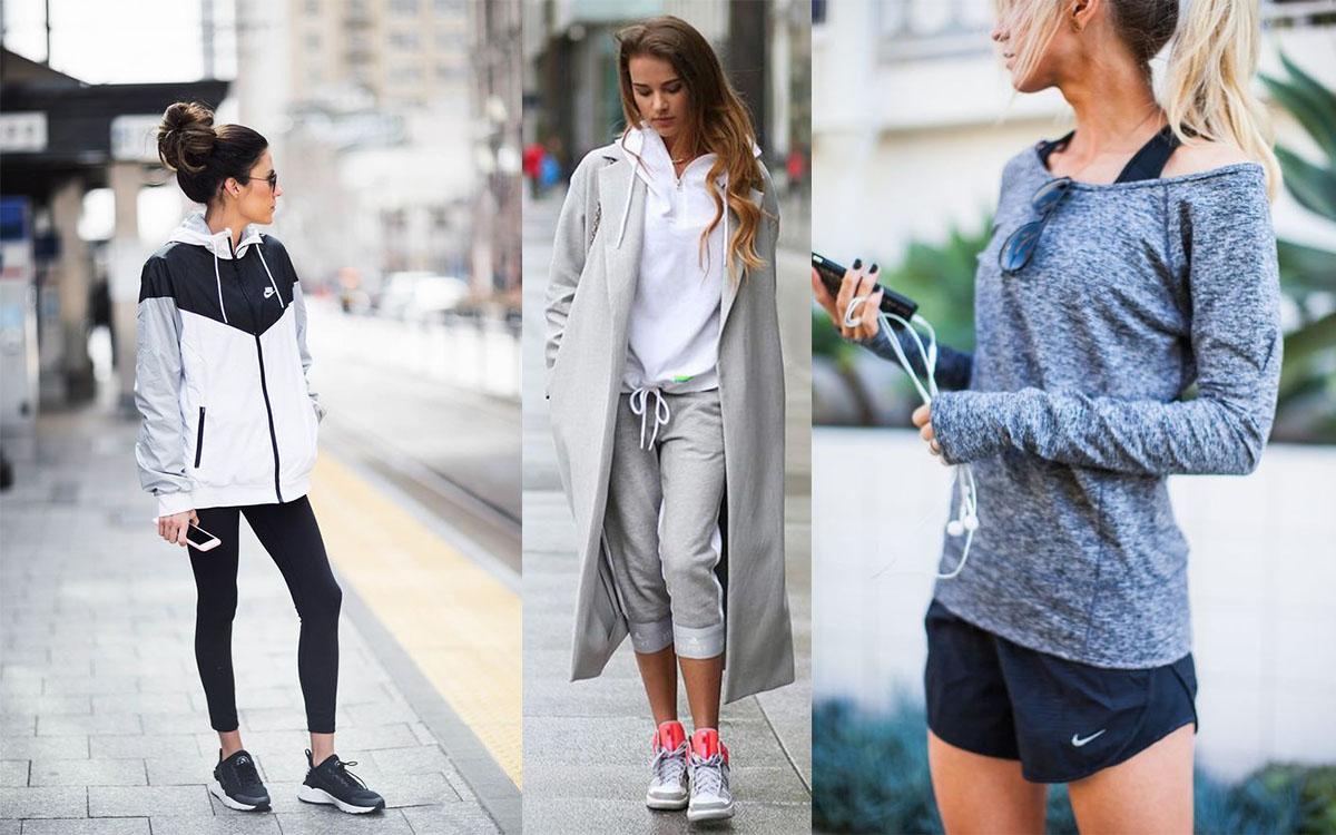 Stylizacje sportowe do 500 złotych (fot. pinterest.com: Hello Fashion, Just The Design, Elle Apparel)