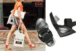 Sandały na koturnie (materiały prasowe CCC, zalando)