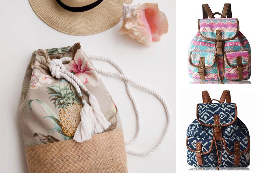 Plecak vintage - gdzie kupić i jak go nosić? (kolaż redakcja, fot. pinterest: atwish.com, etsy.com)
