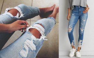 jak przetrzeć jeansy