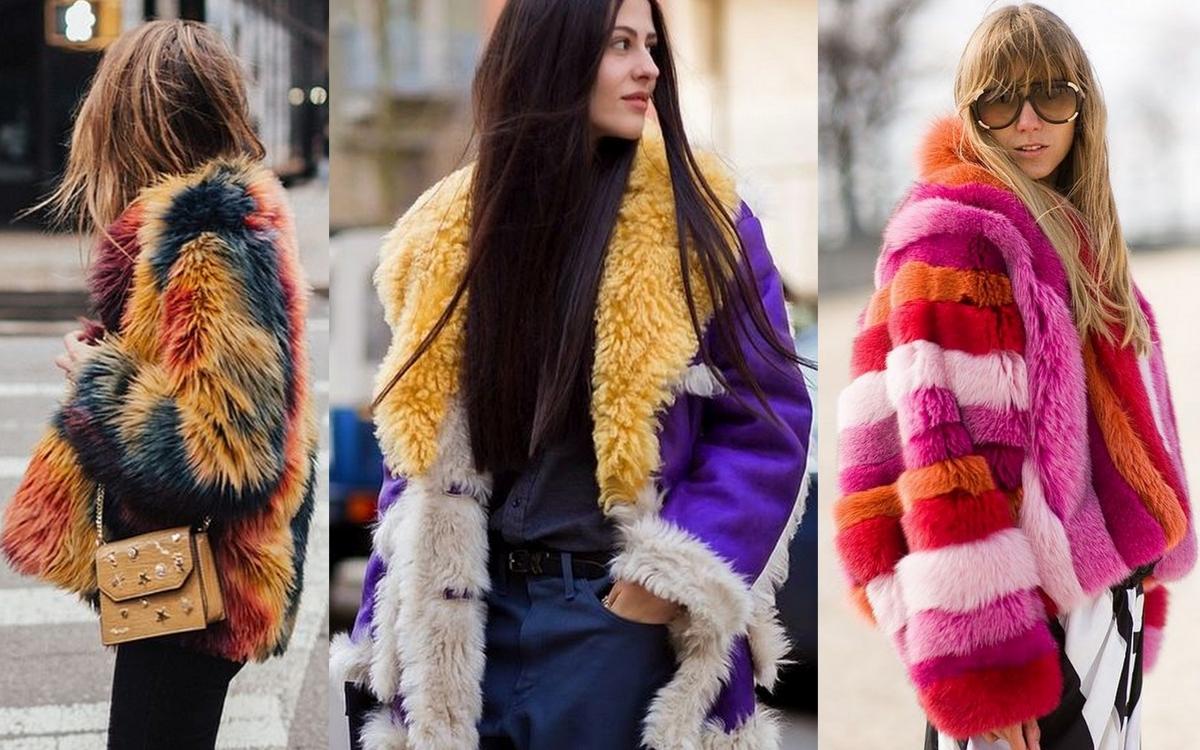 Kolorowe futra i kożuchy na zimę